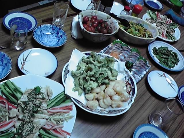 田舎の食卓